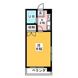 フォンティーヌ内田橋[2階]の間取り