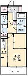 JR高徳線 栗林公園北口駅 徒歩6分の賃貸マンション 7階1Kの間取り