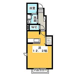 アラヤフラット[1階]の間取り
