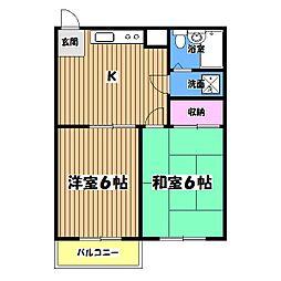 小比企マンション[2階]の間取り