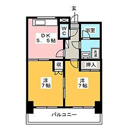 ハウスポンドビュー[5階]の間取り