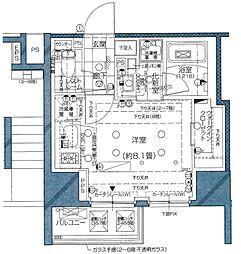 東京メトロ南北線 麻布十番駅 徒歩11分の賃貸マンション 3階ワンルームの間取り
