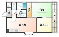 ベルビュー3番館[4階]の間取り