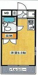 東京都新宿区須賀町の賃貸マンションの間取り