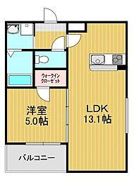 フジパレス草尾II 1階1LDKの間取り