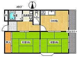 パークサイド御崎[4階]の間取り