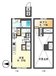 RadIAnce神宮前(レイディエンス)[2階]の間取り