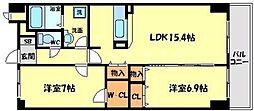 メディオ山田[3階]の間取り
