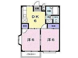 岡山県岡山市北区今7丁目の賃貸アパートの間取り