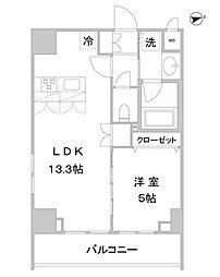 アスール北上野[9階]の間取り