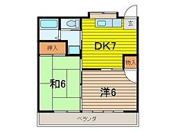 コーポ島崎[2階]の間取り