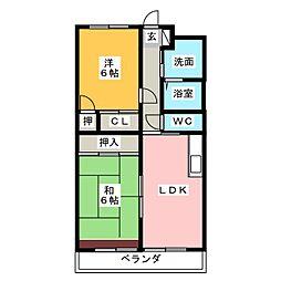 チームス大平台[2階]の間取り