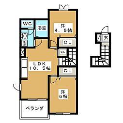 メリースクエアセブン[2階]の間取り