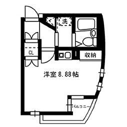 武蔵野フラッツ[201号室]の間取り