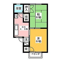 エスペランス桃山A棟[2階]の間取り