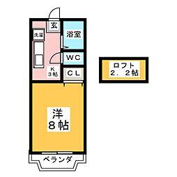 ホワイトキャッスルozawa[1階]の間取り