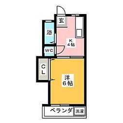 コーポ神の倉[1階]の間取り