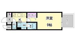兵庫県神戸市中央区磯上通5丁目の賃貸マンションの間取り