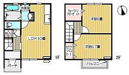 [タウンハウス] 岩手県北上市村崎野19地割 の賃貸【岩手県 / 北上市】の間取り