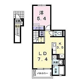シャンハイム[2階]の間取り