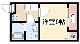stage瓢箪山[101号室]の間取り