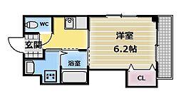 大阪府東大阪市小若江4丁目の賃貸アパートの間取り