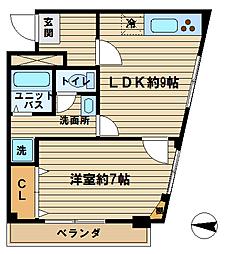 三永ハイツパートII[403号室]の間取り