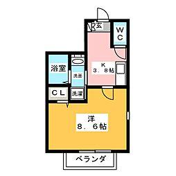オアシスコート[1階]の間取り