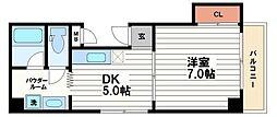 日宝ア・ラ・メゾン[7階]の間取り