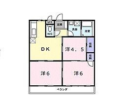 エルディム立田[2階]の間取り