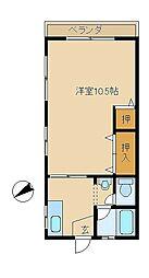 コーポハヤサカ[105号室]の間取り