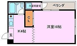 大阪府堺市堺区旭ヶ丘北町2丁の賃貸マンションの間取り