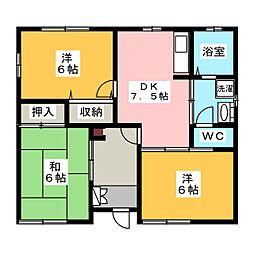 [一戸建] 群馬県伊勢崎市境栄 の賃貸【/】の間取り