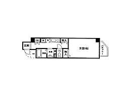 レシェンテ六甲[4階]の間取り