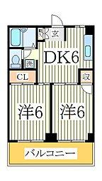 イルマーレブルー[2階]の間取り
