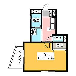 ハピネス北田町[1階]の間取り
