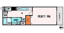 フェリーチェ古川橋[5階]の間取り
