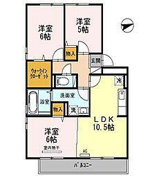 リビングタウン弓ヶ浜ABCDEG[2階]の間取り