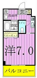 サポーレ松戸[4階]の間取り