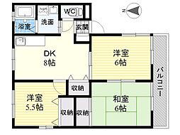 レトア江木[2階]の間取り