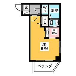 愛知県名古屋市中村区豊国通6の賃貸マンションの間取り