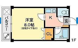 マンションさちえNo.3[1階]の間取り