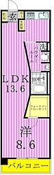 ロイヤルパークス西新井[5階]の間取り