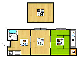 エニシダ鶴橋[3階]の間取り