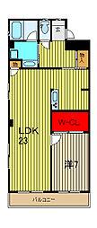 西川口グリーンマンション[5階]の間取り