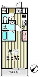 アゼリア鎌倉B[3階]の間取り
