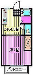 片山コーポラス[102号室]の間取り