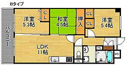 サニーコットン住之江[10階]の間取り