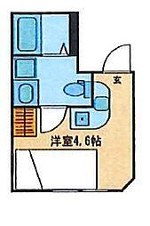 CONTEL KOMAGOME(コンテル コマゴメ) 2階ワンルームの間取り