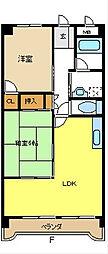 愛知県名古屋市緑区大清水1丁目の賃貸マンションの間取り